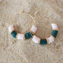Boîte de 20 perles rondelles intercalaires rondes couleur doré - 3x2 mm