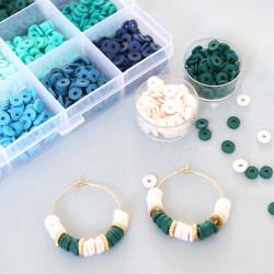Boîte de 20 perles rondelles heishi arrondies en laiton doré - 6x2 mm