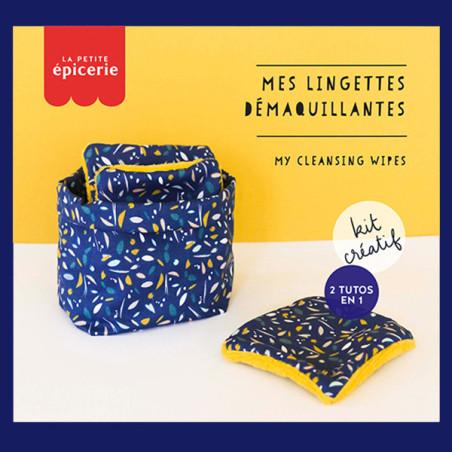 Kit MKMI - Mes lingettes démaquillantes - bleu et jaune moutarde