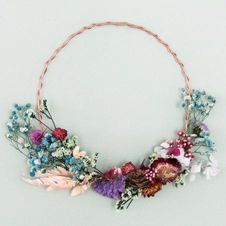 Kit MKMI - Ma couronne de fleurs séchées