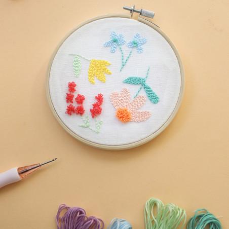 KIT MKMI - Mon kit punch needle fleuri