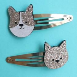 Barrettes cheveux - Chien et chat