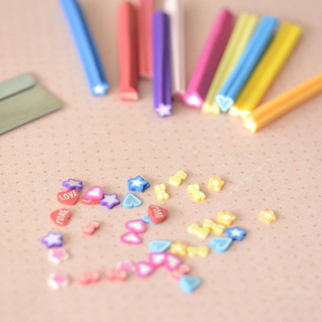 Lot de 10 canes kawaii & lame