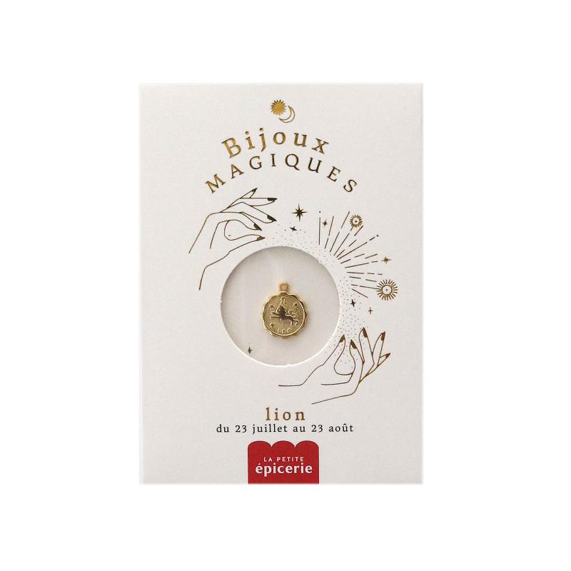Médaille astro dorée à l'or fin - Lion