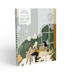 Kit de peinture au numéro - Coffee Shoppar Y.illustration