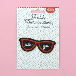 Ecusson thermocollant - LUNETTES HELLO YOU