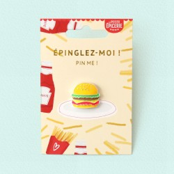 Broche pin's émaillé hamburger