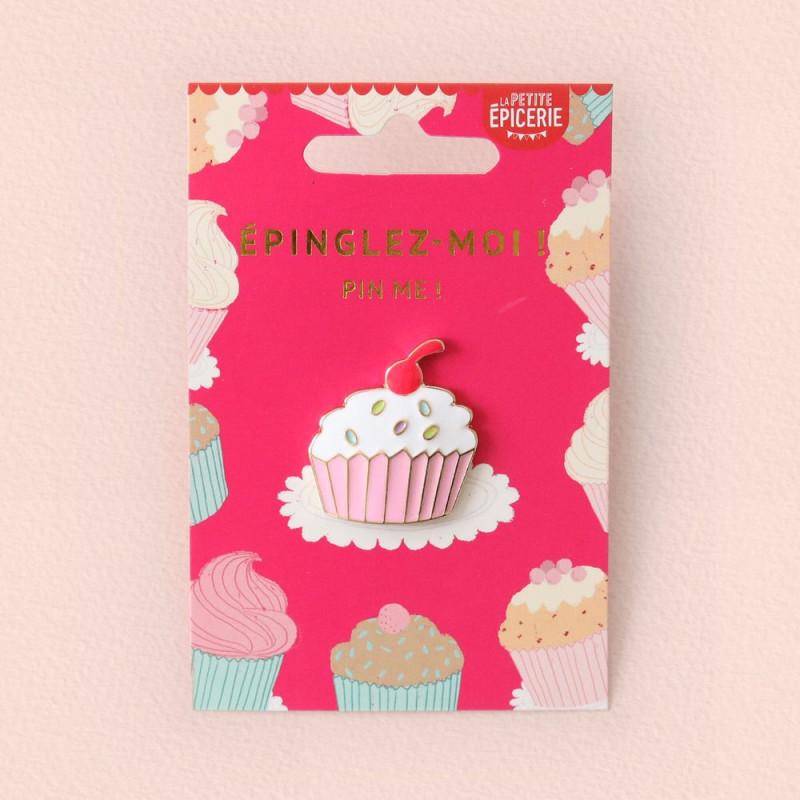 Broche pin's émaillé cupcake