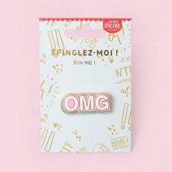"Broche pin's émaillé ""Oh my god"" OMG"