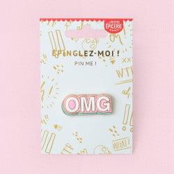 "Broche pin's émaillé ""Oh my god"" OMG"