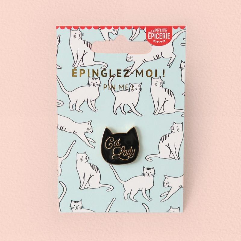 Broche pin's émaillé Cat Lady