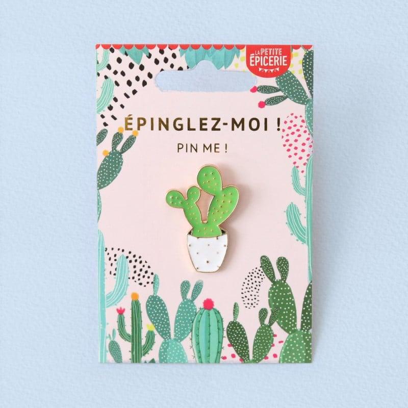 Broche pin's émaillé cactus
