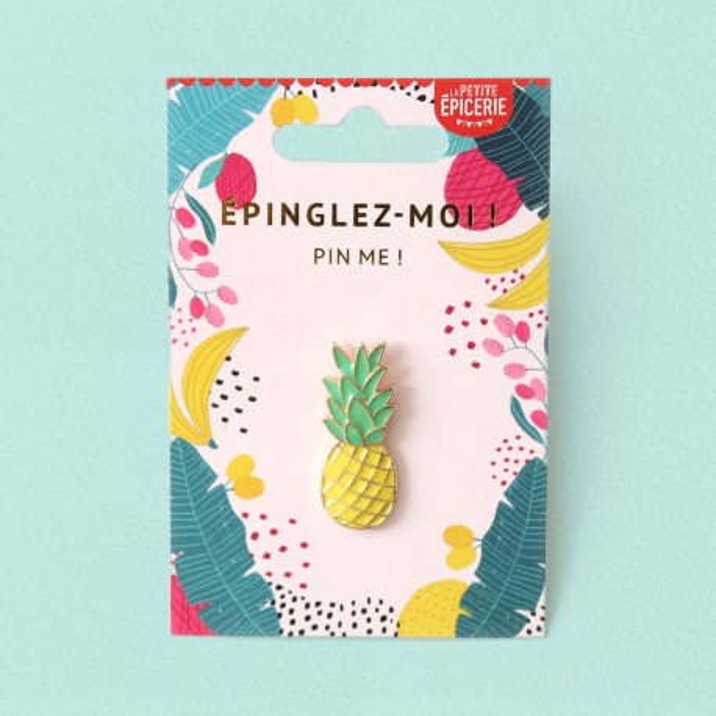 Broche pin's émaillé ananas