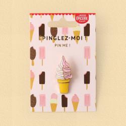 Broche pin's émaillé glace à l'italienne