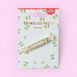 Broche pin's émaillé bonbon
