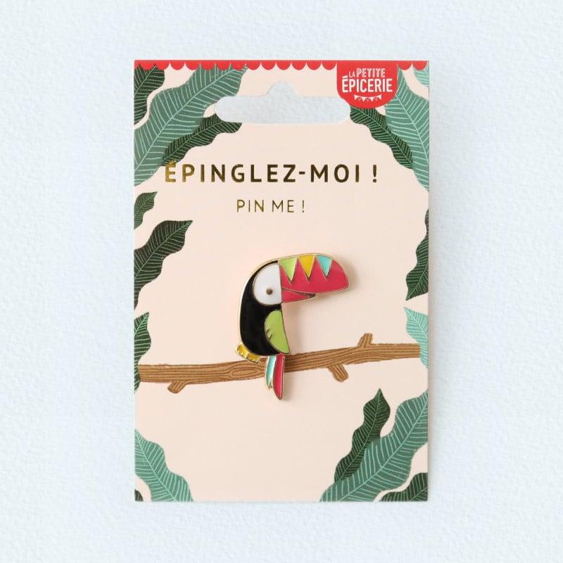 Broche pin's émaillé toucan