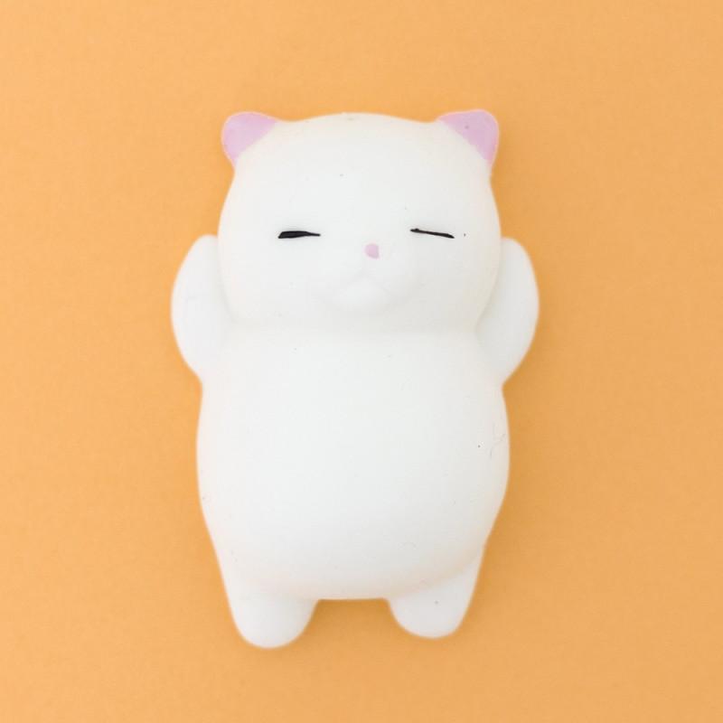Mini squishy chat blanc