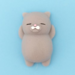 Mini squishy chat gris