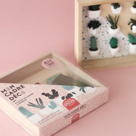 Kit Mon cadre Déco - Plantes miniatures à modeler