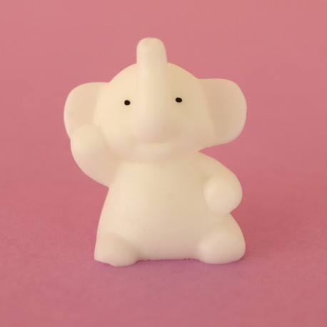 Mini squishy elephant blanc