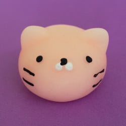 Mini squishy - tête de chat rose