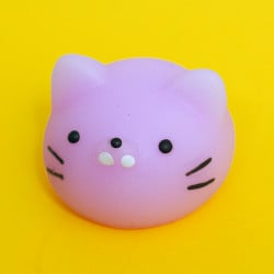 Mini squishy - tête de chat mauve