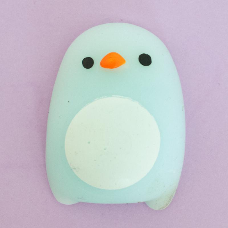 Mini squishy - pingouin bleu