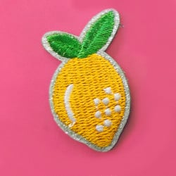 Ecusson thermocollant à paillettes - citron